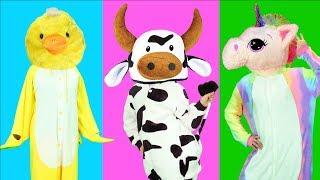 동물 얼굴 맞추기 퍼즐 게임! Animals wrong head puzzle and Children Dance! - 마슈토이 Mashu ToysReview