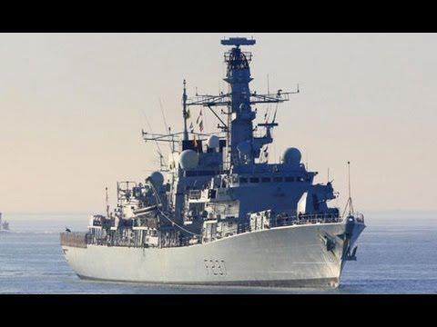 British warship HMS Westminster leaves for Gibraltar