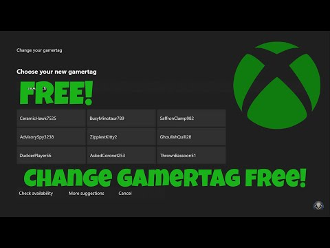 HOW TO CHANGE YOUR XBOX GAMERTAG FOR FREE | Second free change
