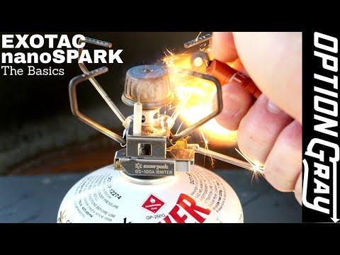 EXOTAC nanoSPARK Fire Starter - How to Use