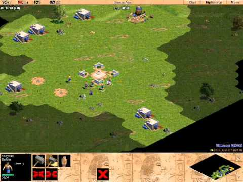 RFR_Gold vs Dinosaur 3: Age of Empires Rise of Rome Gameplay Multiplayer Video