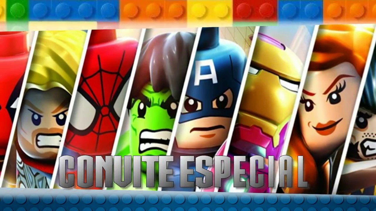 Convite Virtual Murilo Lego Marvel Youtube