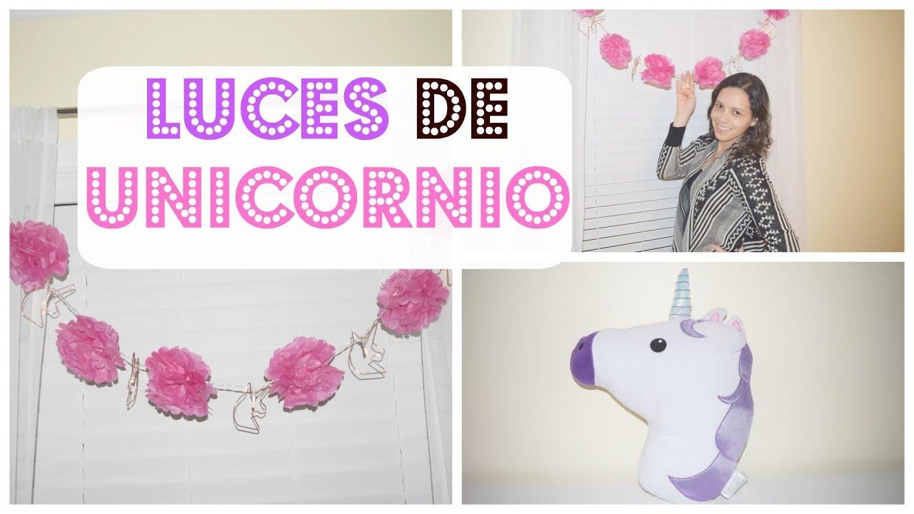 Como decorar un cuarto de ni a unicornio con luz - Cuartos de nina decorados ...