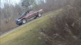 Dirt bikers chased by truck