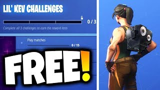 "How to Unlock FREE ""LIL KEV"" Back Bling in Fortnite! (Fortnite Back Bling Challenges)"