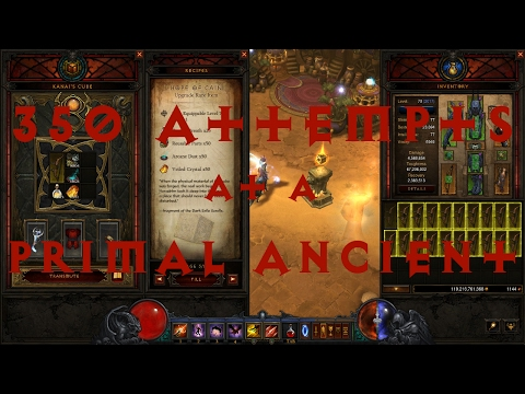 Diablo III PTR patch 2.5.0 - 350 rare upgrades attempt at a Primal Ancient