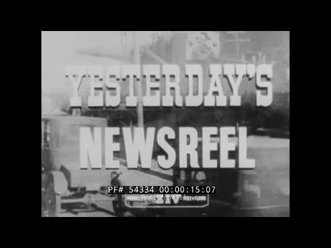 YESTERDAY'S NEWSREEL  WOMEN'S SUFFRAGE  19th AMENDMENT 54334