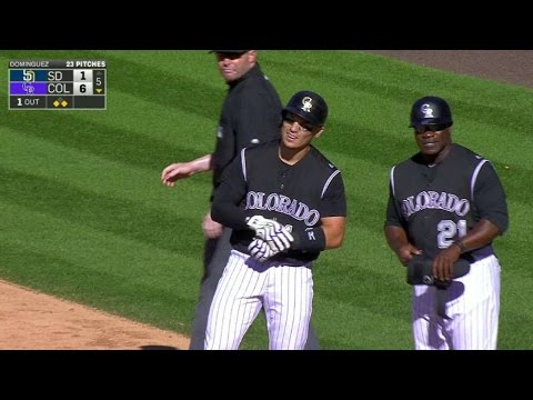 SD@COL: Wolters plates Parra with a single to center