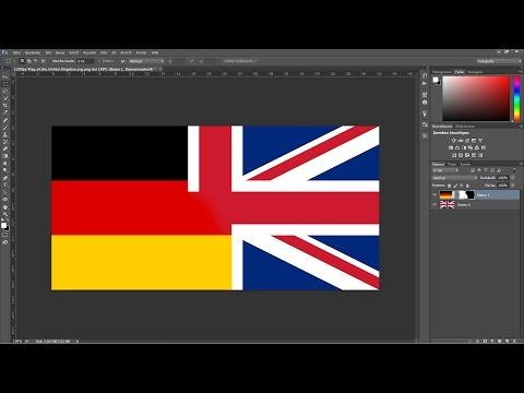 Die Sprache in Photoshop von Deutsch auf Englisch ändern.