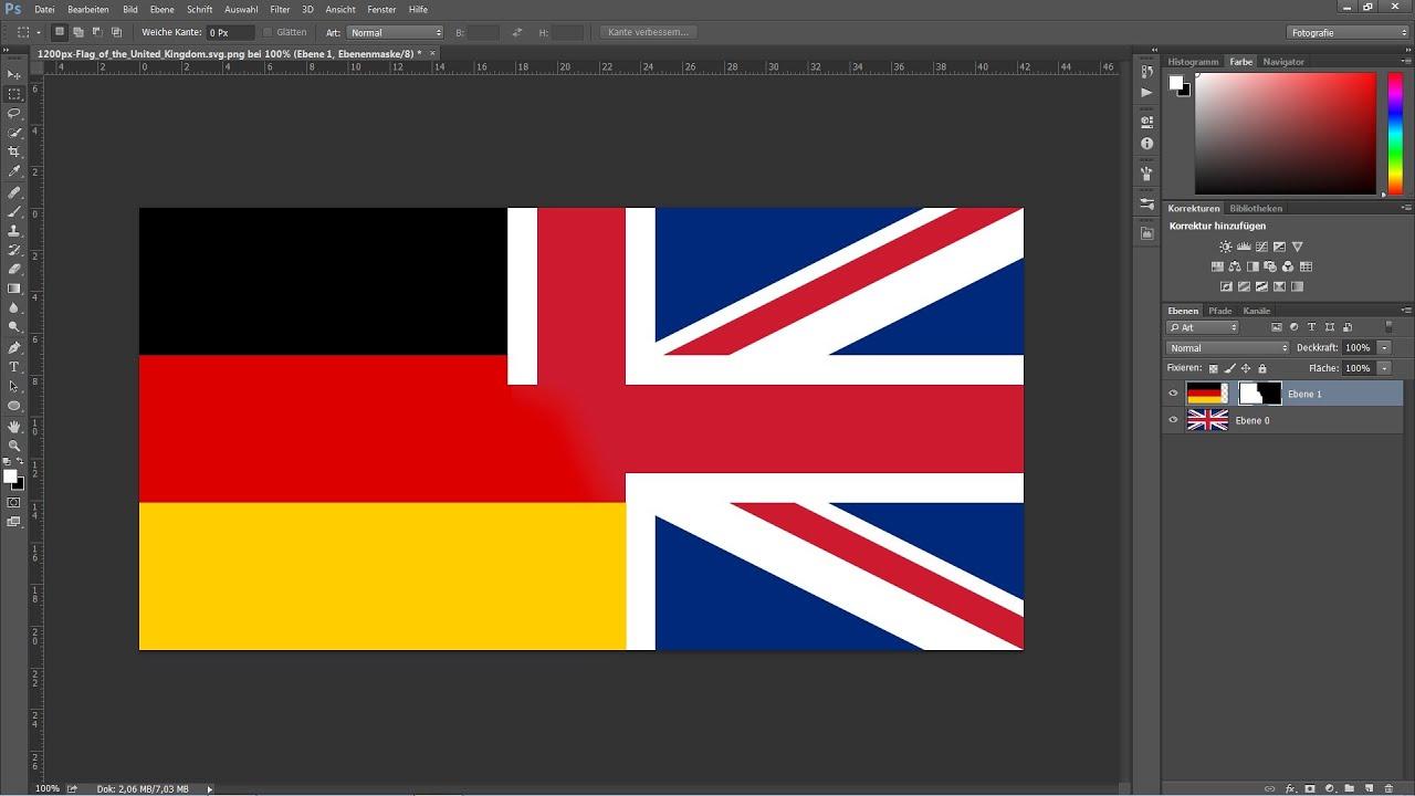 Die sprache in photoshop von deutsch auf englisch ndern for Von deutsch auf englisch