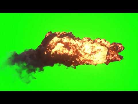Взрыв -- Футаж на зеленом фоне для монтажа видео -- Green background