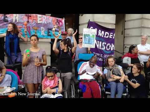 Camden New Journal: Protesters sing 'Give Peace A Chance' outside Town Hall