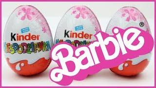 3 NEW Barbie Kinder Surprise Eggs, サプライズエッグ, バービーサプライズエッグ, #Surpriseeggs, #Barbie, Huevos Sorpresa #surpriseeggs #barbie #surprisetoys.