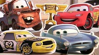 Custom Cars Garage Playset Disneypixarcars Storybook Adventures Stand-up Wooden Toys