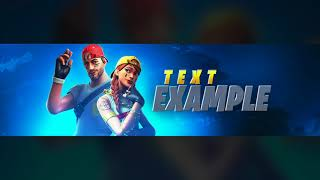 "NEW FREE Fortnite ""YouTube Banner"" Template July 2019! - (FREE Fortnite GFX Template)"