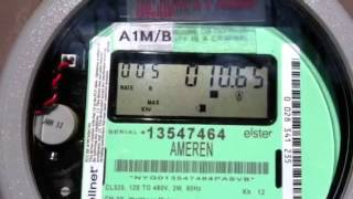 Electric meter running backward in sunny day