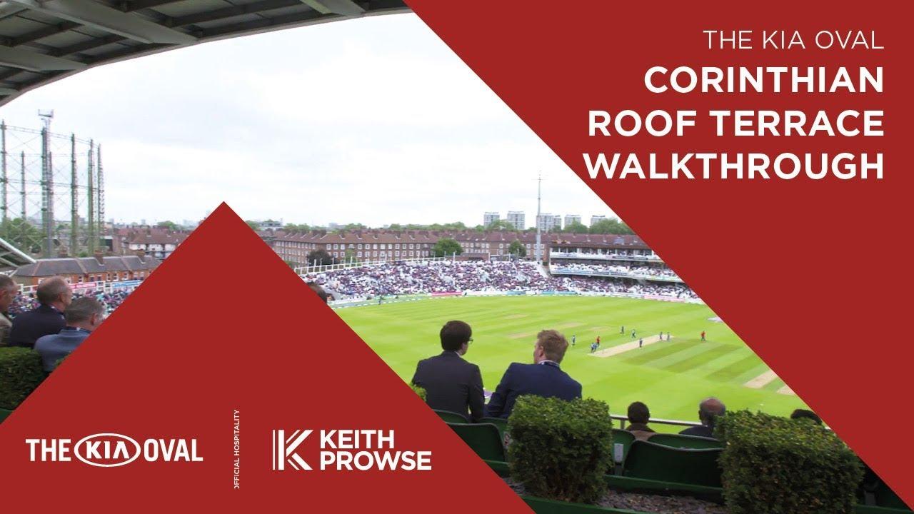 The Kia Oval Hospitality Corinthian Roof Terrace Youtube