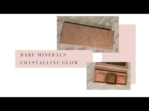 Bare Minerals Crystalline Glow Bronzer and Highlighter Palette review and try on.