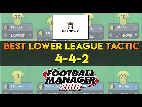 FM18 Best Lower League Tactic! 4-4-2 Football Manager 2018 Tactics