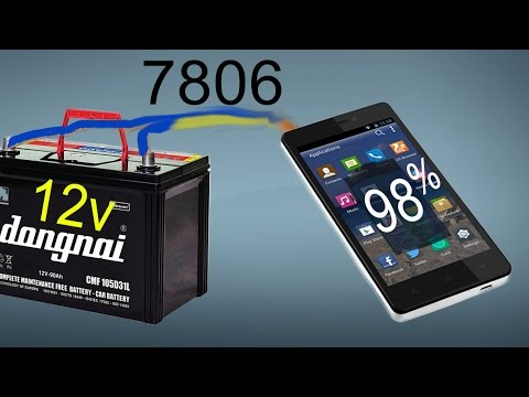 how to make a phone charger with 12 volt batteries