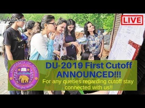 Delhi University (DU) 1st Cut Off 2019 [Released]