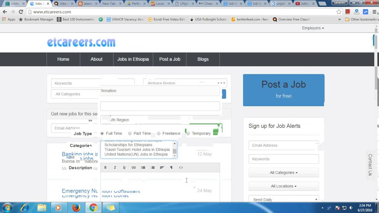 How to post Jobs in Ethiopia   Vacancies in Ethiopia   Ethiopian Jobs @  Etcareers com