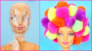 DIY Barbie Hacks and Crafts ~ How to Make Barbie Hairstyles, Clothes, Shoes and Bag Easy Life Hacks