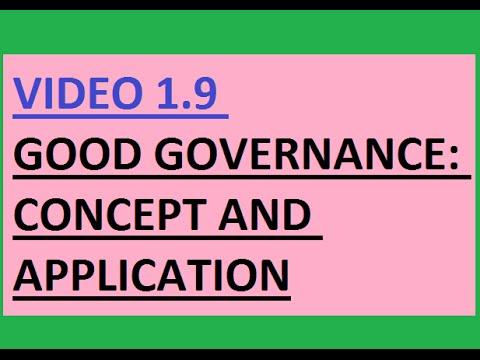 UPSC(IAS) Good Governance   Concept and application (V 1.9)