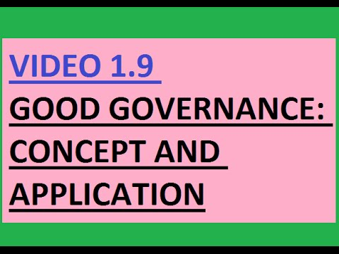 UPSC(IAS) Good Governance   Concept and application (V 1.9)