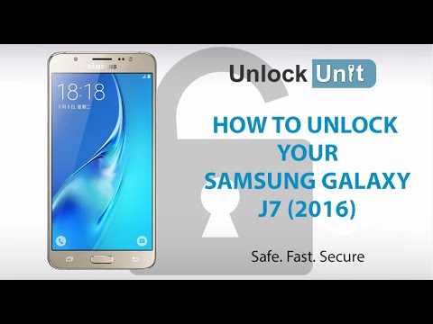 How to Unlock Samsung Galaxy J7 (2016) using Unlock Codes | UnlockUnit