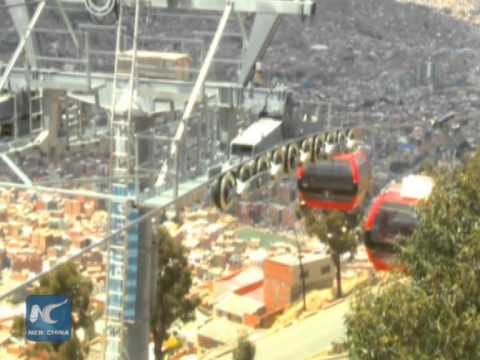 Airbus? Skybus! Bolivians go to work by cable car