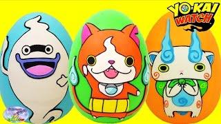 Yokai Watch Jibanyan Whisper Komasan Play Doh Eggs Youkai 妖怪ウォッチ Surprise Egg and Toy Collector SETC thumbnail