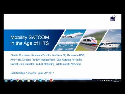 Gilat Webinar with NSR - Mobility SATCOM in the Age of HTS