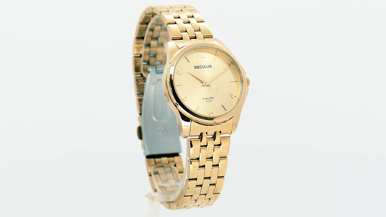 ea4d97cdf01 Relógio Seculus Feminino Long Life 20535LPSVDA1 - Eclock - YouTube