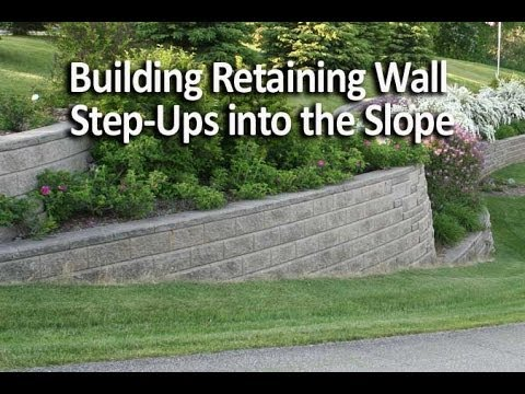 building retaining wall step-ups