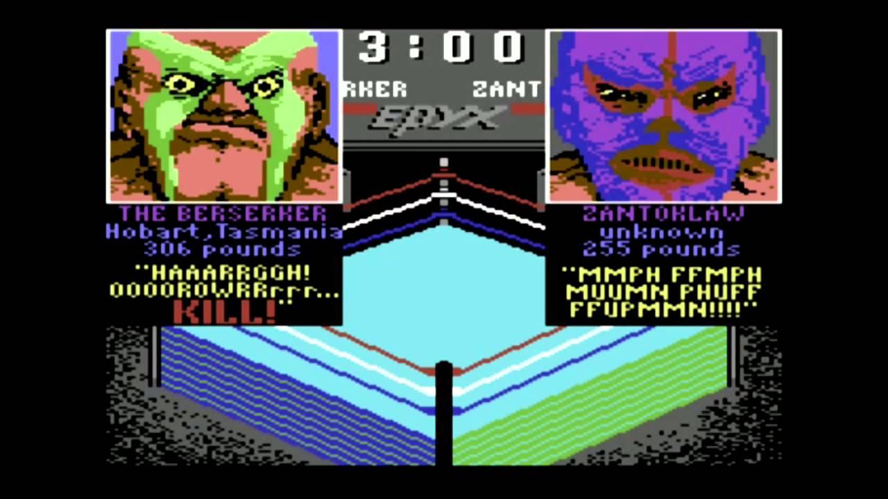 Image result for commodore 64 championship wrestling berzerker