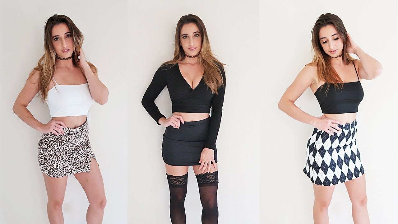 Mini skirts out of fashion Sexy Mini Skirt Try On Youtube