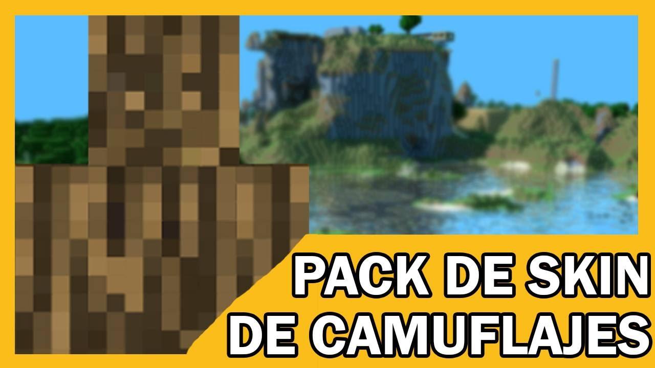 Pack De Skin De Camuflajes Para Minecraft Pe YouTube - Skin para minecraft pe de madera