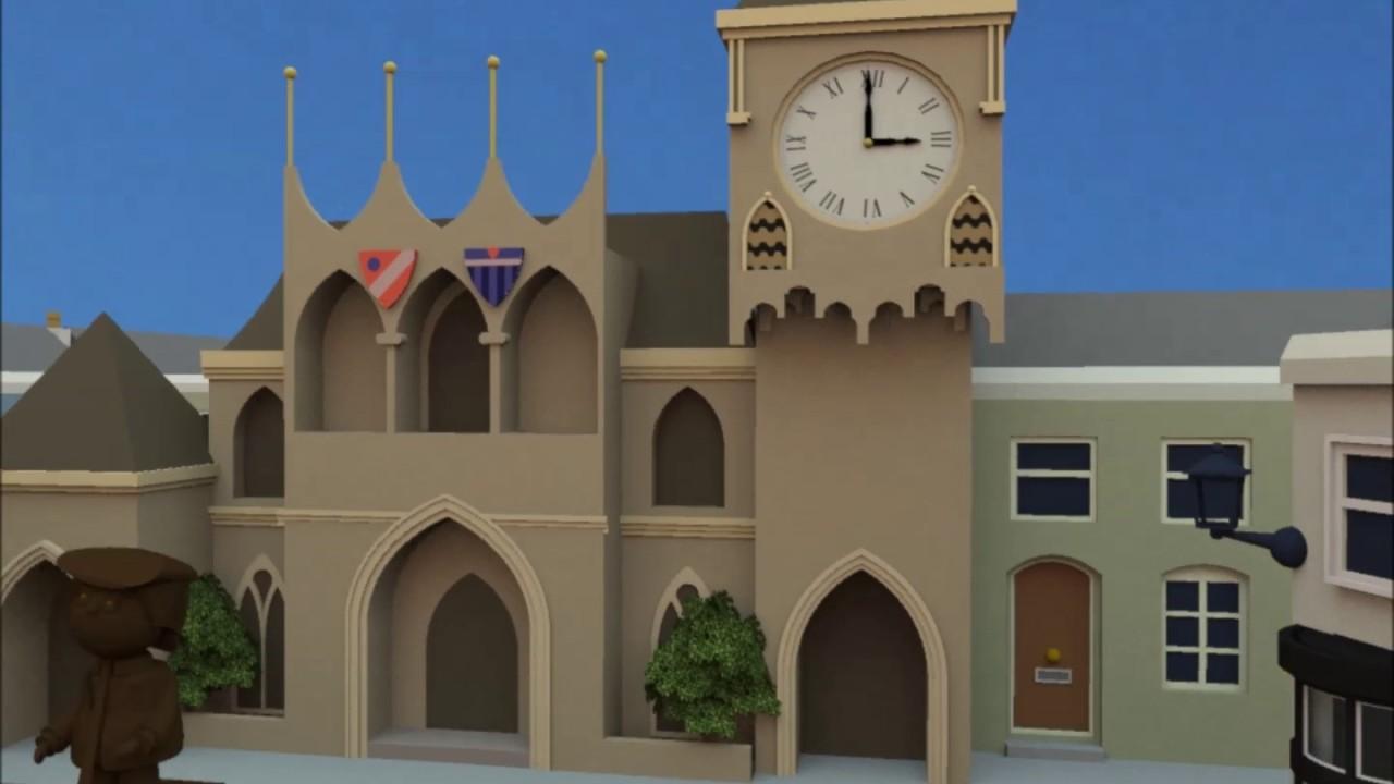 Image result for trumpton town clock three o clock