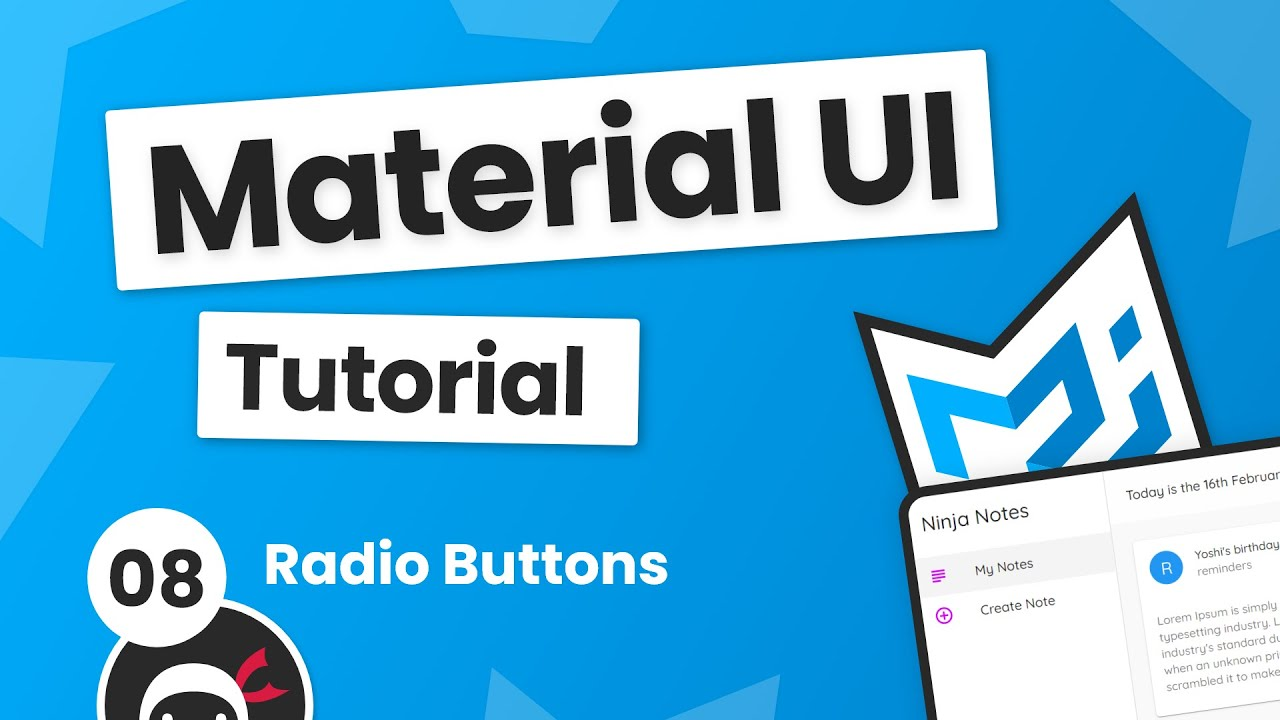 Material UI Tutorial #8 - Radio Buttons