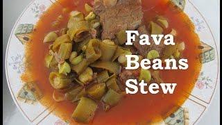 iraqi fava beans and meat stew مرقة الباقلاء الخضرة recipe 140