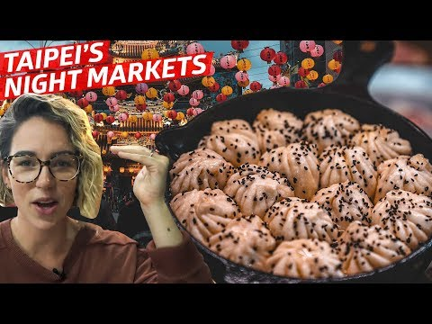 Exploring Taiwan's Night Markets + Pork Pepper Buns — Travel Eat Repeat