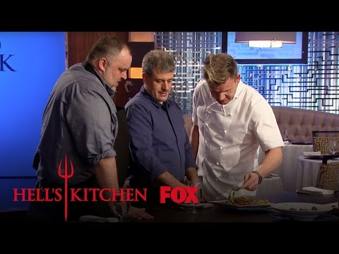 David McMillan And Frédéric Morin Taste The Chef's Ostrich Dishes | Season 16 Ep. 3 | HELL'S KITCHEN