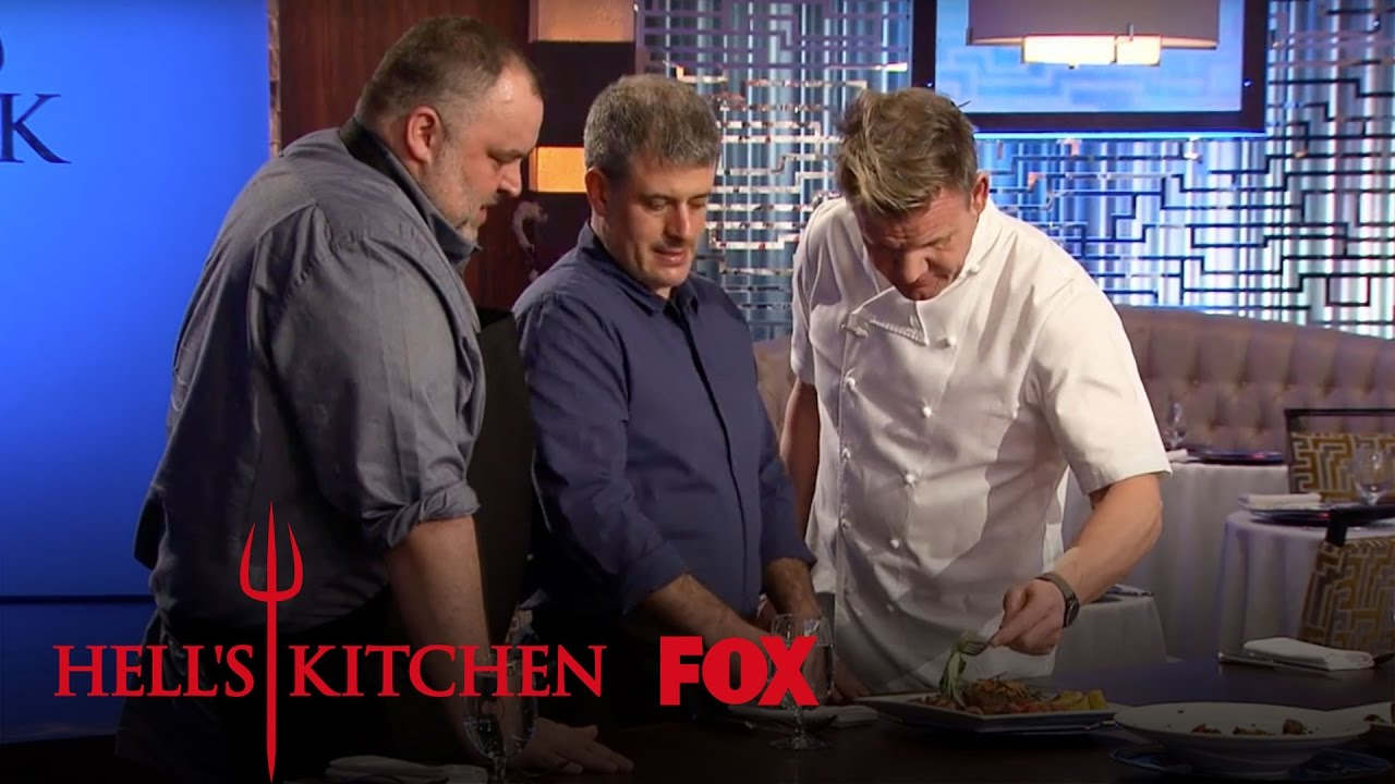 David mcmillan and fr d ric morin taste the chef 39 s ostrich for Watch hell s kitchen season 16