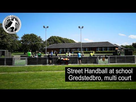 Street Handball at school, Denmark, Gredstedbro Skole, 7 grade, Multi field.