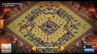 Clash of Clans | TH9 ANTI 2-STAR WAR BASE (The Bullseye Base!!!)