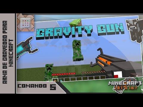 ¡Arma de gravedad o Gravity Gun para Minecraft !|1.8+ | Español | Minecraft Vanilla | Comando 5