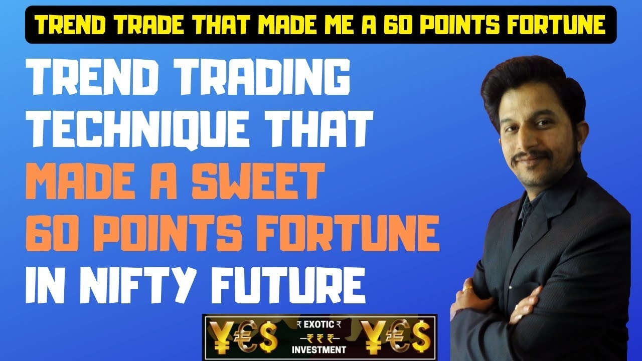 Live Trend Trading Technique that made Sweet 60 Point Profit