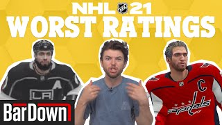 THE 10 WORST NHL 21 PLAYER RATINGS