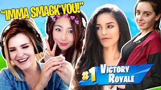 When girls play Fortnite... ft. Valkyrae, Kittyplays & xChocobars
